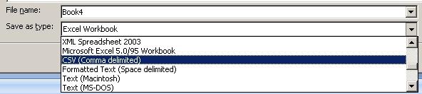 Saving a CSV file