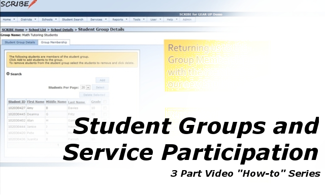 Student Groups and Service Participation