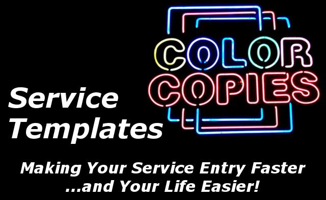 Service Templates Title